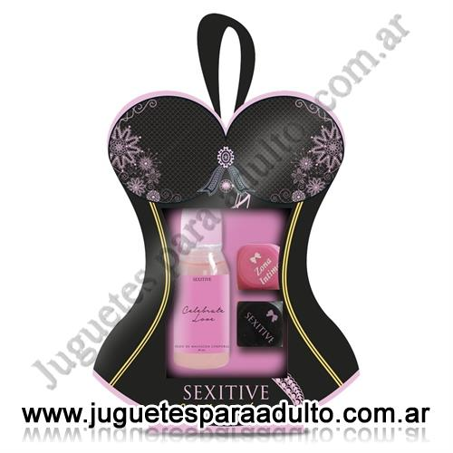 Accesorios, Afrodisiacos feromonas, For lovers kit aceite comestible y dados de juego