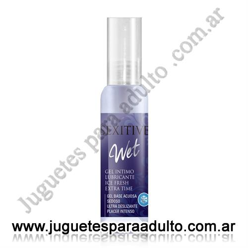 Aceites y lubricantes, Lubricantes sexitive, Wet gel lubricante Ice Fresh 75 ml