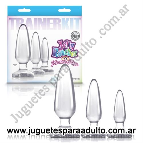, , Kit de plugs anales transparentes